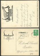 """DEINHARD Sekt Koblenz 1929 Art Deco AK """" Deinhard Kabinett Lila Hochgewächs """" Ortsbedarf M Hindenburg In Berlin - Publicidad"""