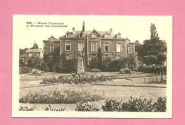 C.P. Tilff = Maison Communale Et  Monument  Des Combattants 1914-1918 - Esneux