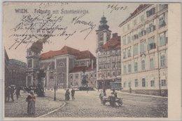 Österreich - Wien, Freyung M. Schottenkirche, Gelaufen 1903 N. Pooln. Ostrau - Austria