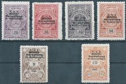 AUSTRIA L'AUTRICHE ÖSTERREICH,Feldpost 1918 Occupation Of MONTENEGRO,MILITARY GOVERNMENT,K.U.K-Revenue Stamps,MNH - Montenegro