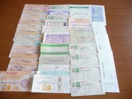 Israele: Lotto Assegni E Vaglia (m35) - Assegni & Assegni Di Viaggio