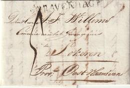 Brief Van H.J.Stellings , 's Gravenhage Aan A.F.Willems Concerie Gevangehuis Te Lokeren , 16/07/1818 - Pays-Bas
