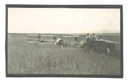 Photo Agriculture , Travail Dans Les Champs, Moissonneuse - Professions
