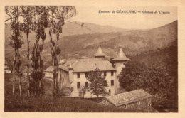 S4483 Cpa 30 Environs De Génolhac - Château De Crouzas - Francia