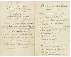 MARCHE DES PETITS PIERROTS - Ancien Et Manuscrit  2 Pages (  France ) - Scores & Partitions