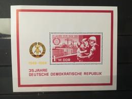 FRANCOBOLLI STAMPS GERMANIA DEUTSCHE DDR 1984 MNH** NUOVI BLOCCO 35 ANNIVERSARY DDR GERMANY - [6] Repubblica Democratica