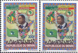 Ref. 311800 * NEW *  - BENIN . 2013. PRESIDENT OF THE AFRICAN UNION - DR. BONI YAYI PRESIDENT OF THE AFRICAN UNION - DR. - Benin – Dahomey (1960-...)