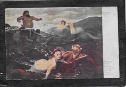 AK 0446  Böcklin - Spiel Der Wellen / Feldpost Um 1916 - Peintures & Tableaux