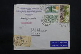 CAMEROUN - Enveloppe Commerciale En Recommandé De Douala Pour Dakar En 1961, Affranchissement Plaisant - L 56693 - Kamerun (1960-...)