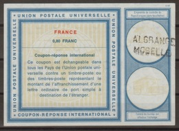 FRANCE Vi19 0,80 FRANC International Reply Coupon Reponse Antwortschein IAS IRC O ALGRANGE MOSELLE - Coupons-réponse
