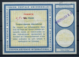 FRANCE Vi19 ms. 0,90 / 0,80 FRANC International Reply Coupon Reponse Antwortschein IAS IRC o MONTPELLIER R.P. - Coupons-réponse