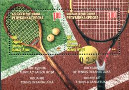 Ref. 222701 * NEW *  - BOSNIA-HERZEGOVINA. Serbian Adm. . 2007. HUNDRED YEARS OF TENNIS IN BANJA LUKA. CIEN A�OS DEL TEN - Bosnia Erzegovina