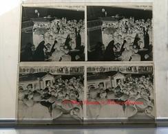 TRANSPORT DE L HOMME AU POUMON D ACIER FRED SNITE 3 JUIN 1939 - LOT DE 2 - PLAQUE DE VERRE STEREO 13*6 CM - Plaques De Verre