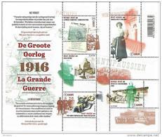 Belg. 2016 - COB N° 4594 à 4598 ** La Grande Guerre - La Résistance  (bloc 236) - Belgium