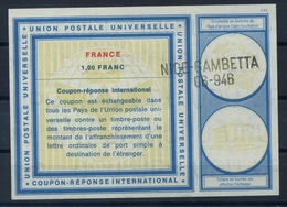 FRANCE Vi191,00 FRANC International Reply Coupon Reponse Antwortschein IAS IRC o NICE GAMBETTA 06-946 - Coupons-réponse
