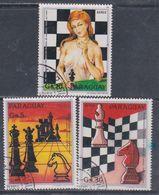 Paraguay PA  N° 956 / 58 O 60è Anniv. De La Fédération Internationale Des échecs Les 3 Valeurs Oblitérées, TB - Paraguay