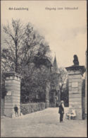 AK Altlandsberg Eingang Zum Schlosshof, Gelaufen 1925 - Altlandsberg