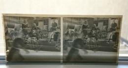 FETE DE SAINT ST LYS 1947 AU MANEGE CARROUSEL - PLAQUE DE VERRE STEREO 13*6 CM - Plaques De Verre