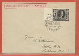 ALLEMAGNE OCCUPATION PAYS BAS LETTRE DE SERVICE DE 1943 DE AMSTERDAM POUR BERLIN - Occupation 1938-45