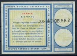 FRANCE Vi20 1,10 Franc International Reply Coupon Reponse Antwortschein IAS IRC O38 GRENOBLE R.P. - Coupons-réponse