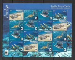 Panhryn 2014 Animals - Pacific Green Turtle WWF Sheetlet Of 4 Sets MNH - Schildkröten