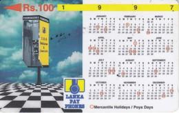 (31SRLB) TARJETA DE SRY LANKA DE Rs.100 CALENDARIO 1997 - Sri Lanka (Ceylon)