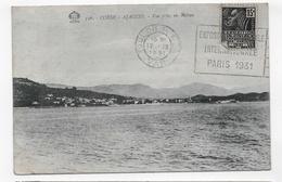 AJACCIO EN 1931 - N° 356 - VUE PRISE EN BATEAU - BELLE FLAMME ET BEAU TIMBRE - CPA  VOYAGEE - Ajaccio