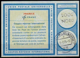 FRANCE  Vi20ms. 1,50 /1,10 FRANC Int.Reply Coupon Reponse IAS IRC Antwortschein O LOOS NORD Redeemed Germany - Coupons-réponse
