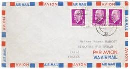 IZ622   DDR 1963 Cover Air Mail Berlin To Simandre Sur Suran (France) - Briefe U. Dokumente