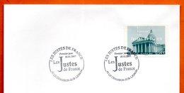43 LE CHAMBON SUR LIGNON   LES JUSTES DE FRANCE   2007  ( Timbre Concordant ) Lettre Entière N° LM 523 - Gedenkstempels