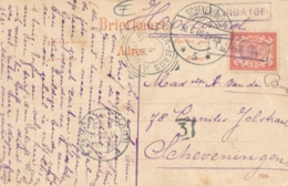Nederlands Indië - 1908 - 5 Cent Cijfer Op Ansicht Van L TJIBATOE Met Trein VK BATAVIA-MAOS A Naar Scheveningen - India Holandeses