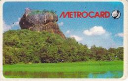 TARJETA CON CHIP DE SRY LANKA DE Rs.150 DE UN PAISAJE (METROCARD) - Sri Lanka (Ceylon)