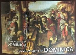 Dominica 1984 Correggio Paintings Minisheet MNH - Dominica (1978-...)