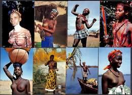 Afrique En Couleurs - Lot 31 Cartes Femmes Folklore Danse Seins Nus Kent Cottrell - Non Classés