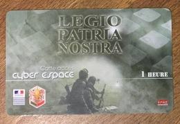 ARMÉE LÉGION ÉTRANGERE LEGIO PATRIA NOSTRA SOLDAT MILITAIRES CARTE PASSMAN 1H WIFI WI FI INTERNET TÉLÉCARTE PHONECARD - Armée