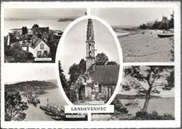D29 - LANDEVENNEC - CPSM Dentelée Multivues (5 Vues:Hôtel Beauséjour/Port Maria/Vallée De L'Aulne/Eglise/Rivière - Landévennec