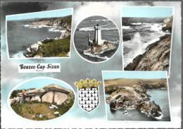 D29 - BEUZEC CAP SIZUN - CPSM Dentelée Multivues (5 Vues + Blason) Colorisée Grand Format - Beuzec-Cap-Sizun