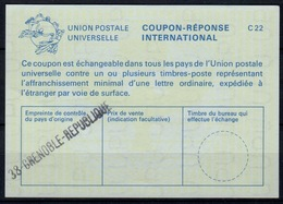 FRANCE La25 International Reply Coupon Reponse Antwortschein IAS IRC o38 GRENOBLE REPUBLIQUE - Coupons-réponse