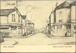 D93 - BOBIGNY - VIEUX BOBIGNY DESSIN DE BORIS TASLITZKY-ACTIVITES CULTURELLES SAISON 1971-1972-Voir Scan - Bobigny