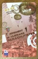 ARMÉE 1er RÉGIMENT DE HUSSARDS PARACHUTISTE CARTE PASSMAN 1 MOIS WIFI WI FI INTERNET TÉLÉCARTE PHONECARD - Armée