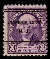 "USA Precancel Vorausentwertung Preo, ""JERSEY CITY"" (NJ). 3 Cents. - Preobliterati"