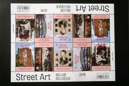 F4770/4774** - Neuf – 2018 – Un Zoom Sur Le Street Art Belge –  Feuillet De  2 X 5   Timbres - Full Sheets