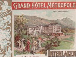 INTERLAKEN GRAND HOTEL METROPOLE - BE Berne