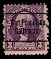 "USA Precancel Vorausentwertung Preo, ""SAN FRANCISCO"" (CAL). 3 Cents. - Preobliterati"