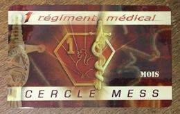 ARMÉE 1er RÉGIMENT MÉDICAL SOLDAT MILITAIRE CARTE PASSMAN 1 MOIS WIFI WI FI INTERNET TÉLÉCARTE PHONECARD - Armée