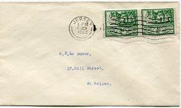JERSEY OCCUPATION ALLEMANDE LETTRE AFFRANCHIE AVEC UNE PAIRE DU N°3 DEPART JERSEY  1 JUN 1943 POUR JERSEY - Jersey