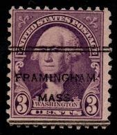 "USA Precancel Vorausentwertung Preo, ""FRAMINGHAM"" (MASS). 3 Cents. - Preobliterati"