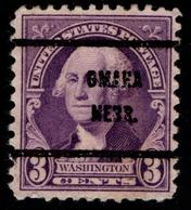 "USA Precancel Vorausentwertung Preo, ""OMAHA"" (NEBR). 3 Cents. - Preobliterati"