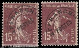 France Préoblitérés 1922. ~ Pr 53 Par 7  - 15 C. Type Semeuse - Préoblitérés