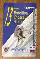 ARMÉE 13 Eme BATAILLON DE CHASSEURS ALPINS SOLDAT MILITAIRES CARTE PASSMAN 1H WIFI WI FI INTERNET TÉLÉCARTE PHONECARD - Armée
